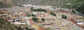 The sprawling Labrang Monastery in Sangchu (Ch: Xiahe) County in Kanlho Prefecture, Gansu Province. (Photo credit: Diego Torres on Demotix)