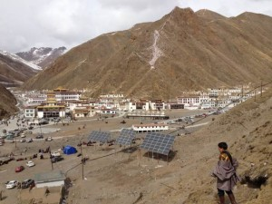 A view of Nyatso Zilkar Monastery in Tridu County in Yushu Prefecture