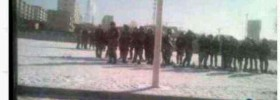 A grainy picture (taken on mobile phone) of the People&#039;s Armed Police contingent during the Chabcha protest.