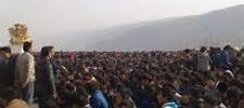 Tibetan students protest in Rebkong County in 2012