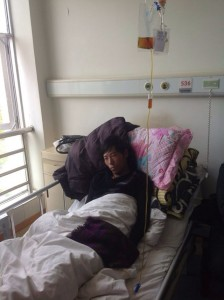 Tsering Gyaltsen is being treated at Lhasa People's Hospital.