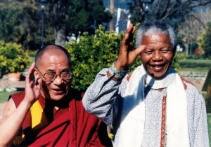 His Holiness the Dalai Lama's meeting with Mandela in 1996 in South Africa.  (Photo: ANC Archives)