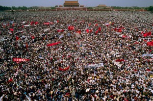 Tiananmen protest on 4 June 1989  [Photo: theviewspaper.net]