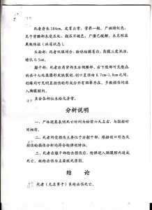 Image 2 of the internal document prepared by the criminal and medical department of the Lhasa Public Security Bureau