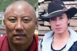 Left, Lobsang Jinpa, and right, Lolo, before imprisonment