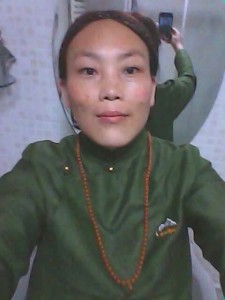 Mother of two, Sangyal Tso, died of self-immolation protest.