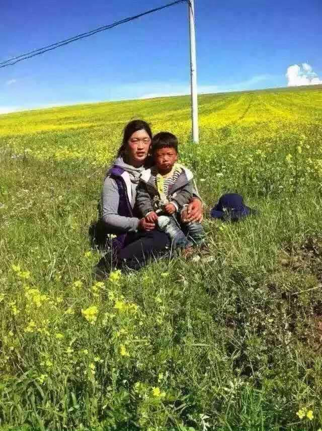 In the picture: Woekar Kyi and her four-year-old son in an undated photo